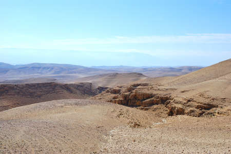Fragment of the Judean desert near the Arad, Israel. photo