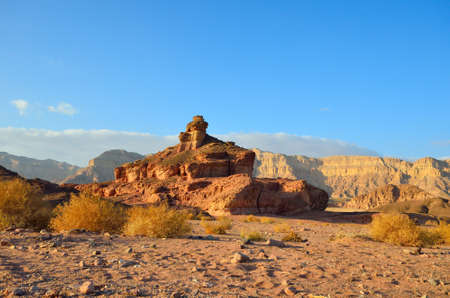 The Spiral Hill in Timna Valley,  the southwestern Arabah, Israel. photo
