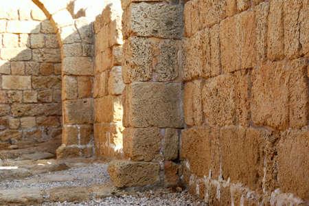 ceasarea: Ruins of an ancient Caesaria, city - a residence of Pontius Pilate, the procurator of Judea