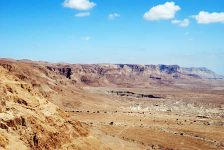 Fragment of the Judean desert near the Dead Sea. photo