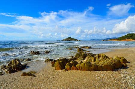 Rocky shore on the west coast of Sardinia. Italy photo