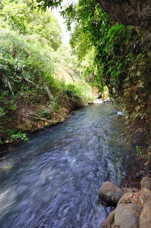 banias: Banias Waterfall . Hermon Stream Nature Reserve, Israel Stock Photo
