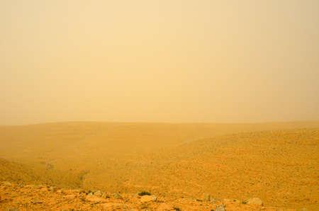 negev: Sandstorm in the Negev desert. Israel