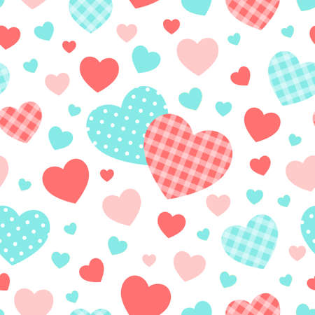 Seamless pattern with hearts