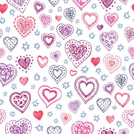 Valentinstag Vektor Muster
