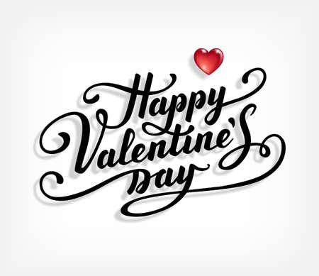 wedding feast: Happy Valentines Day text. Stock Photo
