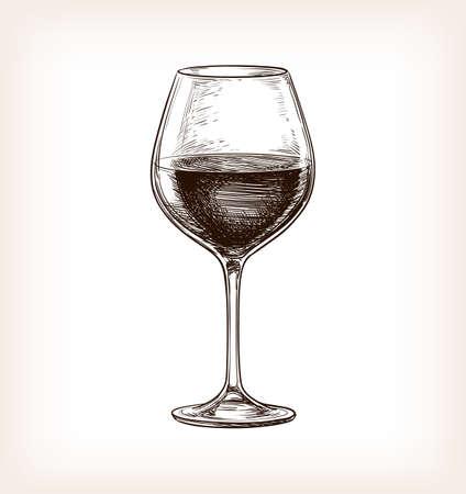 wineglasses: Hand drawn illustration of wineglass. Illustration