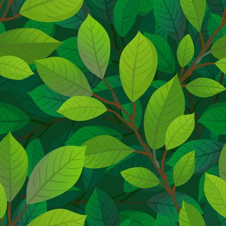 분기 및 원활한 패턴을 나뭇잎.