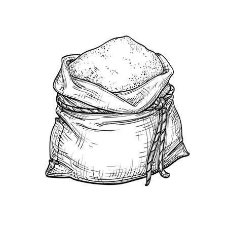 Sack of flour. Illustration
