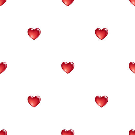 wedding feast: Seamless pattern with 3d hearts. Valentines day background. Vector illustration.