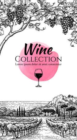 Wijnlijst ontwerp sjabloon.