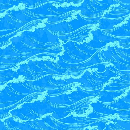 海の波のパターン。