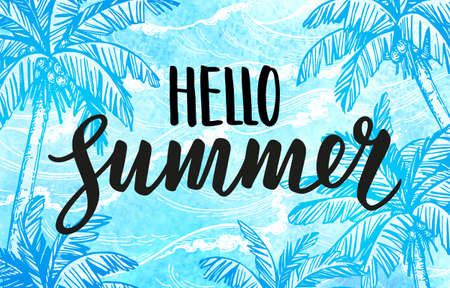 Hello summer banner template.