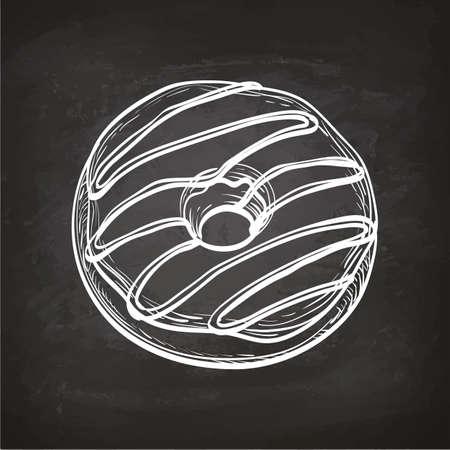 黒板にドーナツのスケッチ。