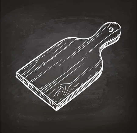 Cutting board chalk sketch Ilustracja