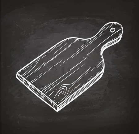 Snijplank krijt schets