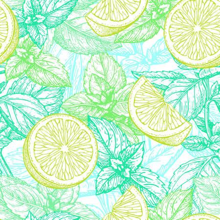 라임과 민트 패턴으로 그림입니다.