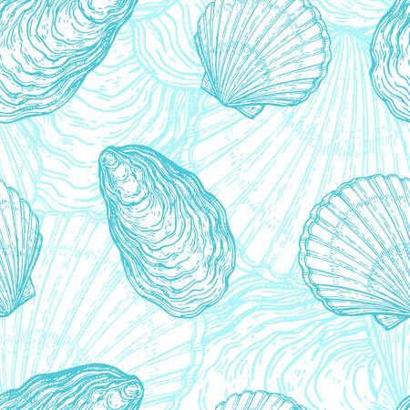 貝殻でシームレスなパターン