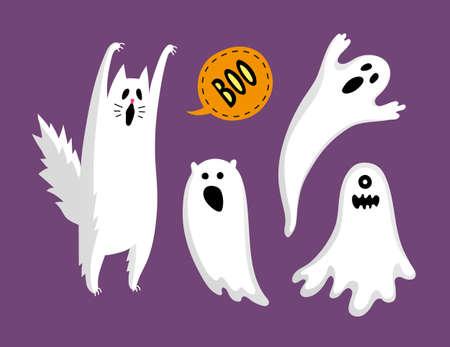 Cute halloween ghosts.