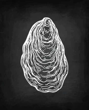 Croquis de craie d'huître. Banque d'images - 87113887