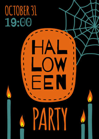 Halloween banner template Illustration