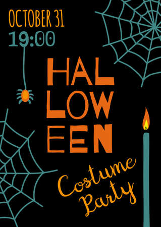 Halloween banner template Illustration
