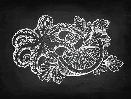 チョーク スケッチ (魚介類)