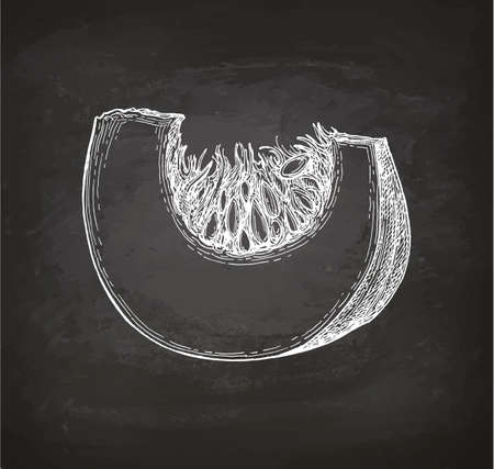 Chalk sketch of pumpkin piece