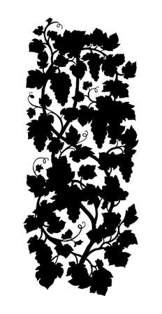 Vertical grape silhouette