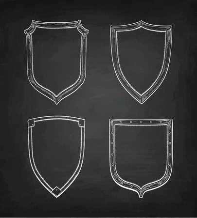 Schizzo del gesso degli schermi d'annata sull'illustrazione di progettazione della lavagna. Archivio Fotografico - 88651892