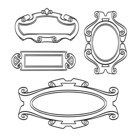 Set di cornici d'epoca Archivio Fotografico - 88652203