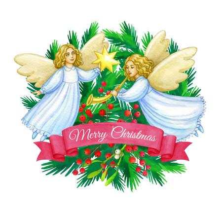 Christmas greeting card. Foto de archivo