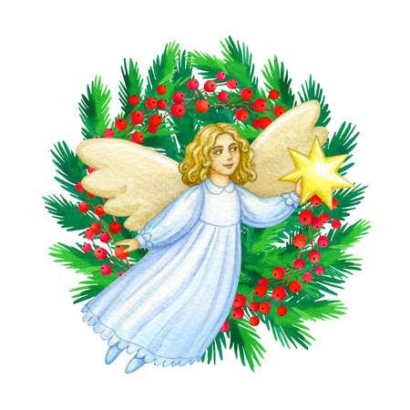 Angelo carino di Natale. Archivio Fotografico - 92480300