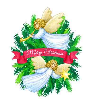 Biglietto di auguri di Natale Archivio Fotografico - 92465809