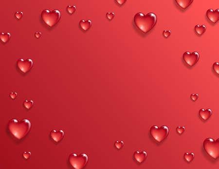 バレンタインデーの背景。