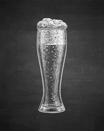 Chalk sketch of beer glass.