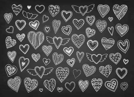 Cute doodle hearts.