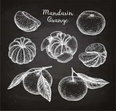 Mandarin orange set.