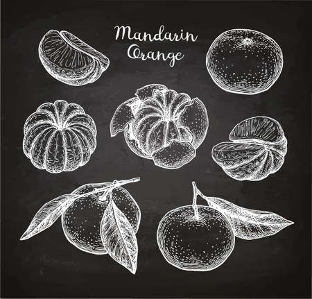 Mandarin orange set.