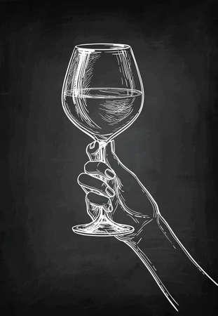 Hand holding a glass of wine. Banco de Imagens - 98031647