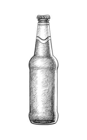 手描きのビール瓶。