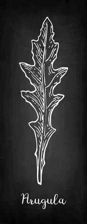 Chalk sketch of arugula