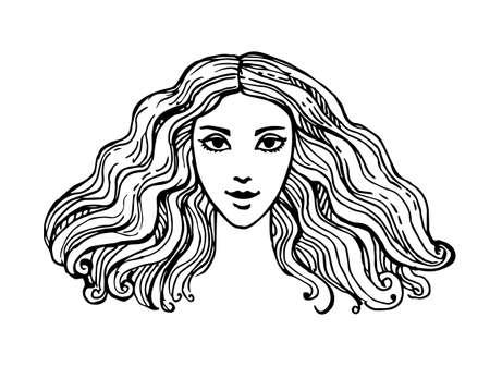 Ink sketch of woman