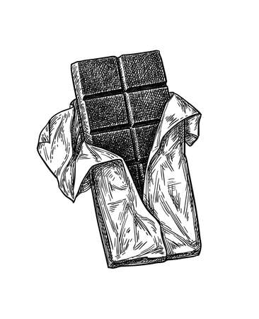 Ink sketch of chocolate bar.