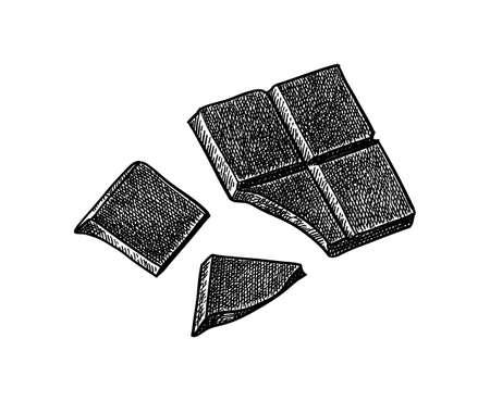 Ink sketch of chocolate bar.