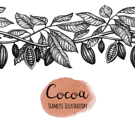 Seamless illustration of cocoa. Vektorgrafik