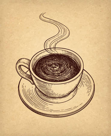 Cup of hot chocolate or coffee. Illusztráció
