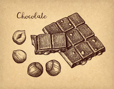 Chocolate ink sketch. Фото со стока - 124889422