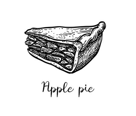 Ink sketch of apple pie 写真素材 - 131564665