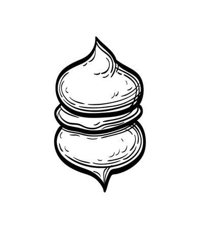 Ink sketch of meringue Imagens - 131568140